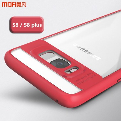 MOFi Case for galaxy s8 plus case cover galaxy s8 case joint transparent pink red blue black white frame s8 back case capa coque funda