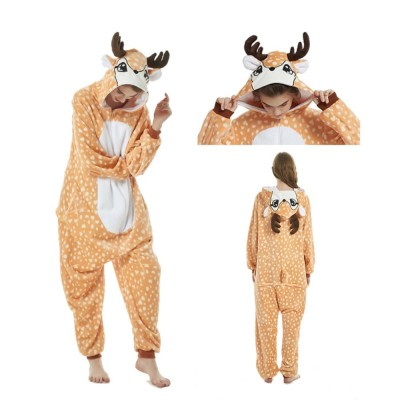 2019 New Onesie Wholesale Animal Kigurumi Stitch Unicorn onesies Adult Unisex Women Hooded Sleepwear Adult Winter Flannel
