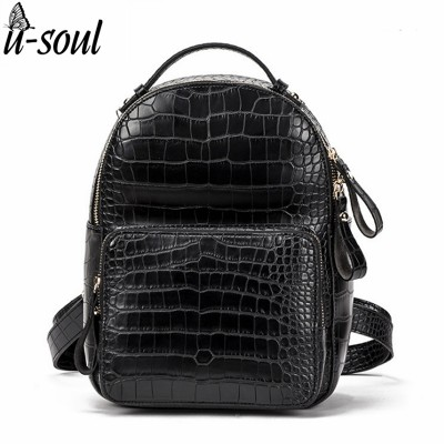 Women Backpack Leather Fashion PU Leather Travel Backpack Female School Bag Mini Backpacks For Girls A26