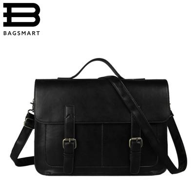 European Style Document File Vintage Men Messenger Bags Tote Elegant Men's Briefcases Office Women Leather Handbags