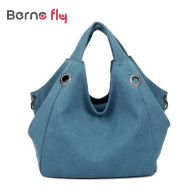 New arrival Famous Brand Canvas Handbag Fashion Casual bags Designer Women Shoulder Bag solid zipper Handbag Large Capacity Bag