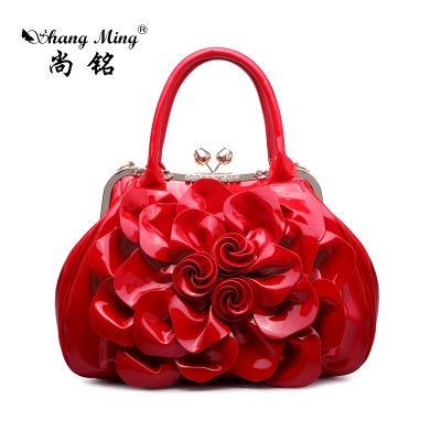 Sexy Bag Patent Leather Shoulder Bags New 2019 Fashion Women Rhinestone Crossbody Bags  Sexy  Ladies Floral Messenger Evening HandBags
