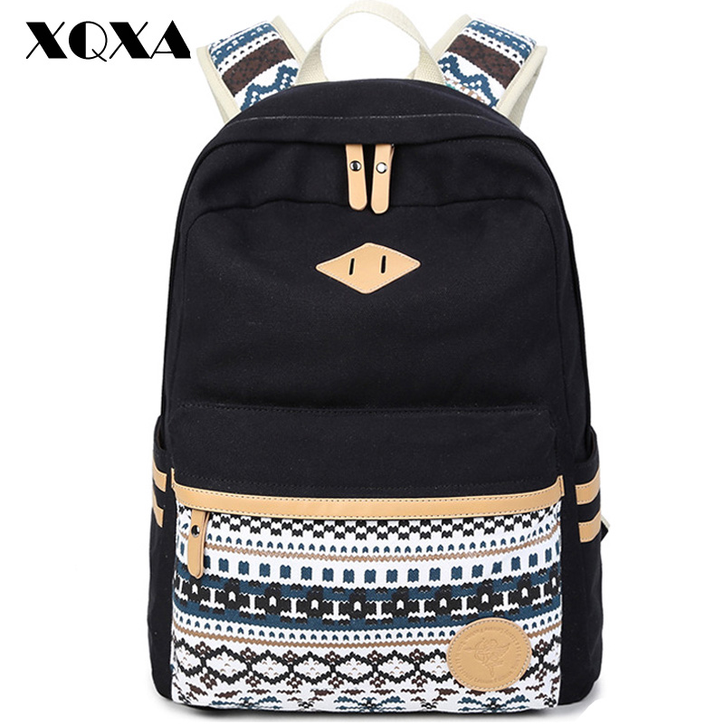 93ba64eb77 XQXA High Quality Backpacks for women Laptop Bag Printing School ...