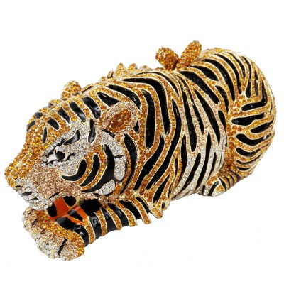 Animal Tiger Luxury Crystal Evening Bag Leopard Cocktail Party Purse Handbags Women Clutch bags Purse