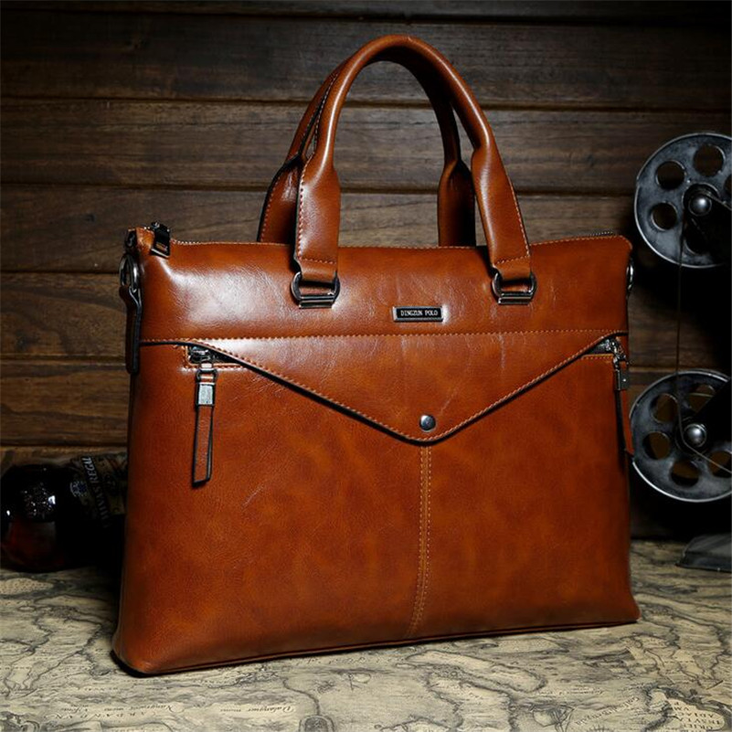 Hot Sell Promotion Simple Dot Design Famous Brand Business Men Briefcase Bag  Luxury Wholesale PU Leather Laptop Bag For Man B51 f8a136d05bc15
