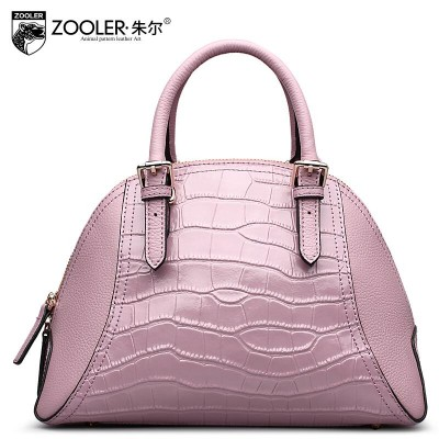2019 New zooler genuine leather women bag brand fashion alligator grain shell bag quality leather women handbags shoulder bag
