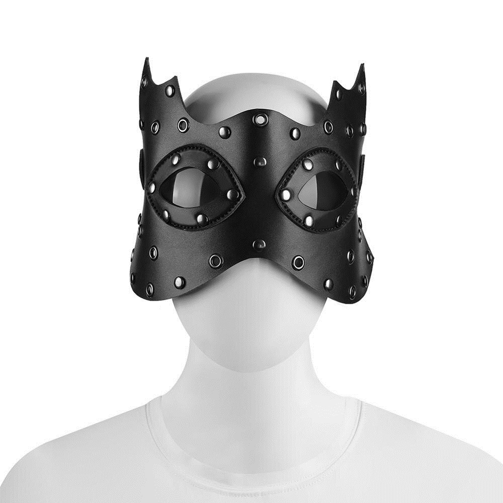 Original New Unisex Black PU Leather Masquerade Halloween Cosplay Adult Mask Steampunk Carnival Party Accessories Gothic Anime Props