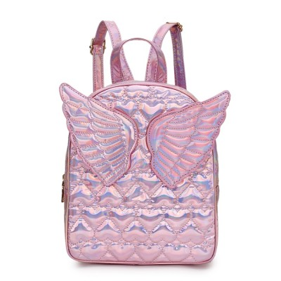Backpack with Wings Brand Fashion Heart Embossed Wings Decorated Girls Mini Backpack Shoulder Bag Travel Bag School Bags For Teenage Girls