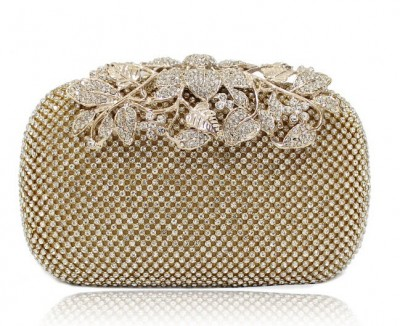 bolsa feminina New Both Side Diamond Flower Crystal Evening Bag Clutch Bags Upscale Styling Day Clutches Lady Wedding Purse 3326