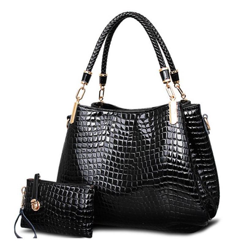 21a6ebebb kit bag brand crocodile women totes lady handbag+pursewallet ...