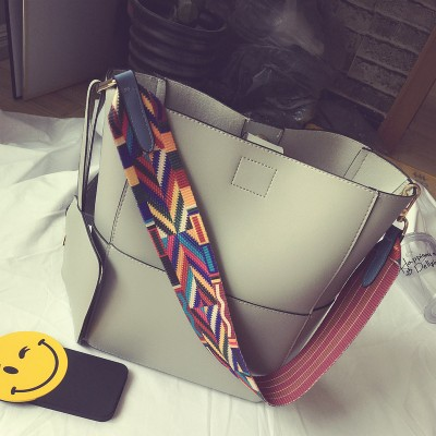 Bags 2019 formal picture bucket bag fashion messenger bag large capacity handbag women's handbag