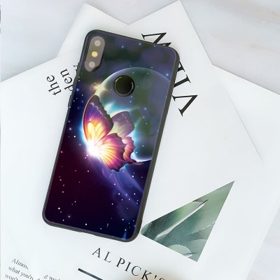 Xiaomi Mi Max 3 Case Cover Mofi Hard Back Tempered Glass Back case for Xiaomi Mi Max 3 Phone Case