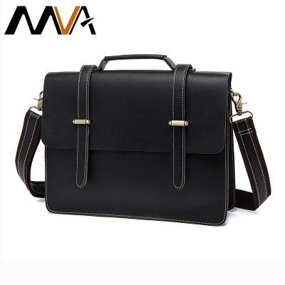MVA 100% Genuine Leather Men Bags New briefcase Men's Messenger Shoulder Bag Crazy Horse Leather Men Crossbody Handbags 1036
