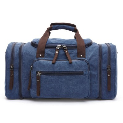 2019 Men's Vintage Travel Bag Bolsa Canvas Large Capacity Tote Portable Luggage Daily Handbag