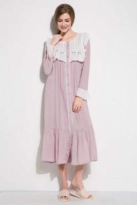 Sleepwear Women Nightgown Elegant Sleepwear Gown Princess Home Dress