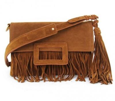 Sexy Bag Handmade Bag Women Brown Red Gray Black Faux Suede Leather Fringes Bag Sexy Tassel Shoulder Bag for women