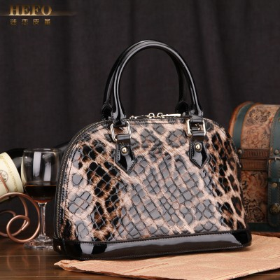 2019 new Genuine Leather shell bag leopard print handbag cross-body women's handbags bags small large-panel purse