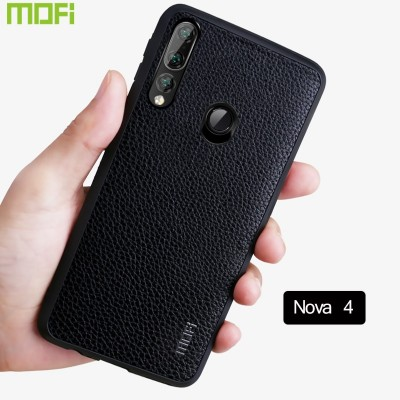 Huawei Nova 4 Case Mofi For Huawei Nova 4 Back Cover Pu Leather Grain Anti Fingerprints Nova 4 Cover