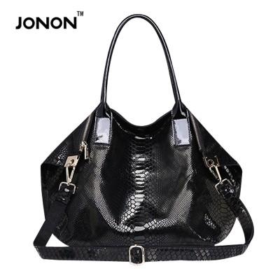 JONON sac a main femme de marque snake skin genuine leather bags shoulder bags women handbags famous brand women bags brand bag