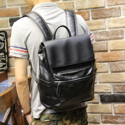 Brand Women Men Backpack Fashion Casual PU Leather Backpacks School Style Student Mini Backpack Business Backpack