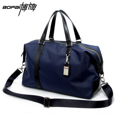 2019 Men Travel Bags Black Blue Men Tote Shoulder Travel Bag Portable Men Handbags Big Weekend Bag Women Waterproof Duffle Bag