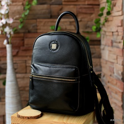 College of Retro Womens Leather Backpack