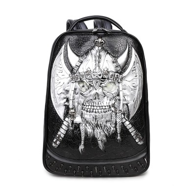 3D Skull Backpack Shoulder Bags for Men Women Backpack Gothic Steampunk Unique backpack cool bag steampunk fashion School Backpack Mens Cool Casual School Bags for Boy girl