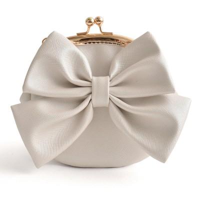 Princess Gothic lolita bag  Original stereo features bow Pu diagonal bag bag small sweet pearl cross pattern Chain Purse b0016