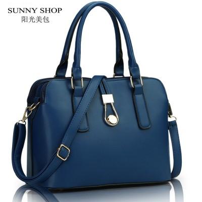 SUNNY SHOP fashion business women Messenger Bags high quality office bag double zipper crossboday bag PU leather shoulder bags