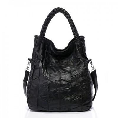 2019 New Women Handbag Genuine Leather Shoulder Bag Sheepskin Ladies Black Soft Casual Shopping Bag Large Capacity Tote Bolsos