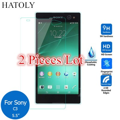 For Glass Sony Xperia C3 Tempered Glass for Sony Xperia C3 Screen Protector for Sony Xperia C3 Dual Glass D2502 D2522 D2533