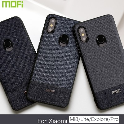 Mofi Case For Xiaomi Mi 8 Pro Case For Xiaomi Mi 8 Lite Case Mi 8 Back Cover For Xiaomi Mi 8 Explorer Case Back Cover Mi 8 Dark Business Style