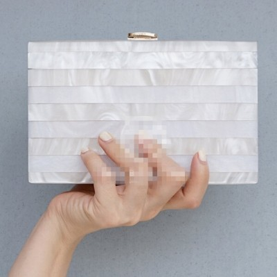 Women messenger bags Clutch Bag 2019  Women Bags Transparent Pearl white Perspex Clutch Evening  Handbag Acrylic Bag