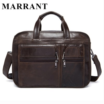 MARRANT Genuine Leather Men Bags Fashion Man Crossbody Shoulder Handbag Men Messenger Bags Male Briefcase Men's Travel Bag 8893