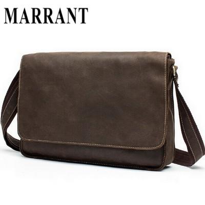 Guaranteed Crazy Horse Leather Men's Briefcase men messenger bags Business travel bag man leather vintage man shoulder bag 2015