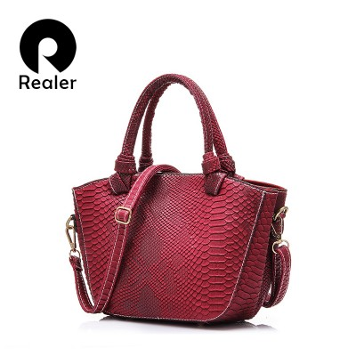 High-quality Designer Serpentine Pattern Women Handbag Soft Pu Leather Lady Tote Bag Women Shell Bag
