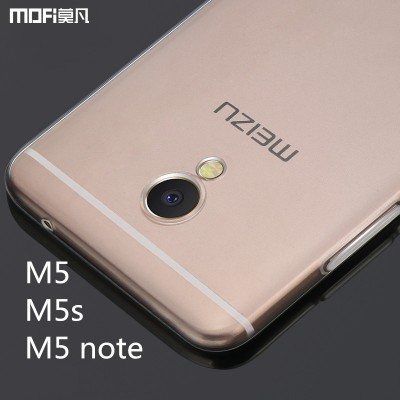 Meizu m5 note case cover meizu m5s cover m5 case  MOFi original soft TPU back case capa coque funda transparent silicone clear
