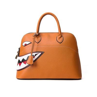 2019 fashion cartoon printing crossbody Shoulder bags personality shark women handbag pu leather shell totes bags bolsa feminina