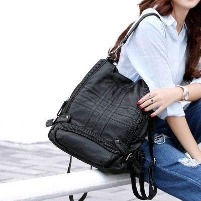 Backpacks for Girls New Fashion Women's Backpacks Female Genuine Leather Backpacks School Bags For Teenage Girls Brand Designer Ladies Shoulder Bags