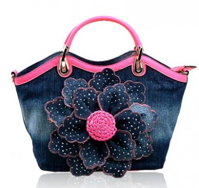 Sexy Bags Set auger roses cowboy bag canvas bag ladies' handbags one shoulder bag oblique satchel fashion sexy