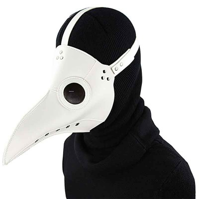 White PU Leather Long Beak Plague Bird Doctor Mask Gothic Rock Cosplay Masks Anime Halloween Party Steampunk Costume Accessories