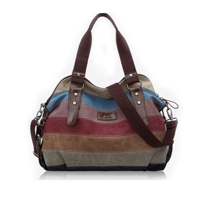 2015 Canvas handbags top quality women shoulder bags designer totes casual shoulder bag messenger bag color block large totes