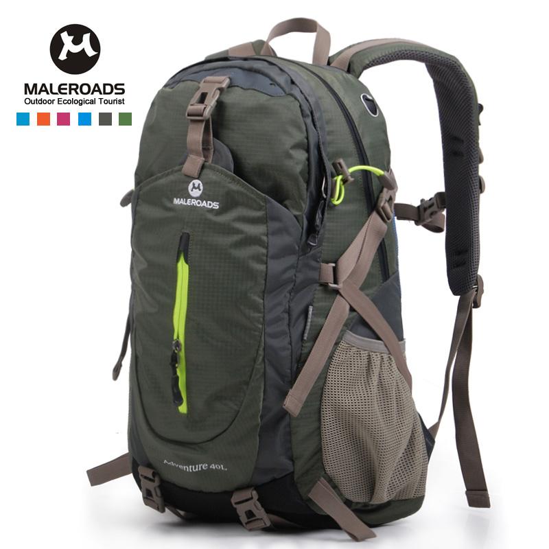 cc5f7b9256 Top quality Maleroads Hiking Backpack Travel Daypack Outdoor Sport Backpack  Camping Pack Trekking Rucksack for Men Women 40L waterproof hiking backpack