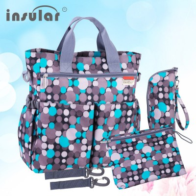 Fashion Colorful Baby Diaper Bag Nappy Bags Waterproof Changing Bag Multifunctional Mommy Bag