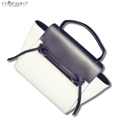 2017 Wings leather bag shoulder portable package catfish swing bat hit color smiley handbag large bag white commuter