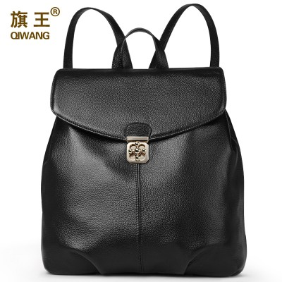 Preppy Genuine Leather Women Backpack Luxury Brand Real Leather Backpack Fashion Female Backpacks for Teenage Girls