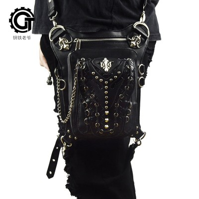 SteelMaster Steampunk Messenger Bag Waist Belt Bag Women Men Gothic Steampunk Style Fashion Fanny Pack Shoulder Leg Bag Holster Bag