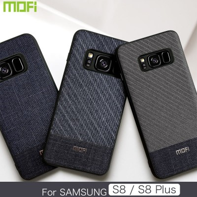 Mofi Case For Samsung Galaxy S8 Case For Samsung Galaxy S8 plus Cover Fabric Phone Case For Samsung S8 Samsung S8 Plus Business Style Handcraft Gentleman Case Cover