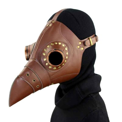 Steampunk Bird Mask Plague Mask Steampunk Plague Doctor Mask PU Leather Halloween Carnival Cosplay Plague Doctor Mask Steampunk Bird Mask Punk Rock Gothic Costume Accessories