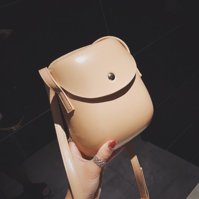 Autumn New Design Fashion Interior Single Shoulder Mini Solid Shell Bag Casual Soft Hasp Purse Women